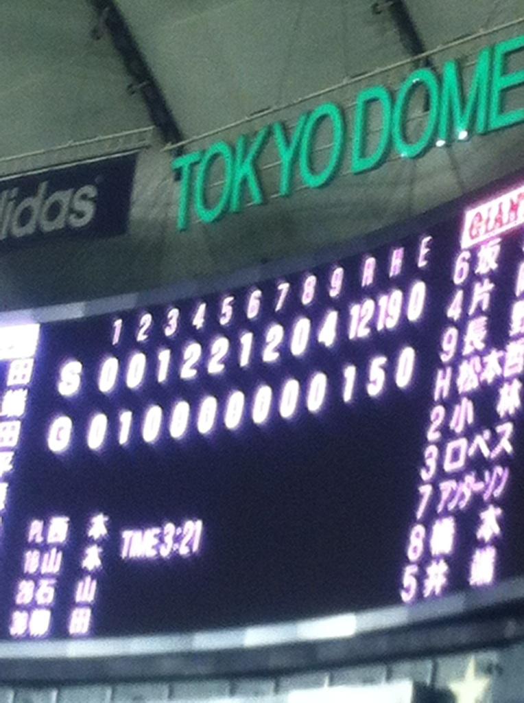 ヤクルト(東京)●1-12 力が無いからこうなる