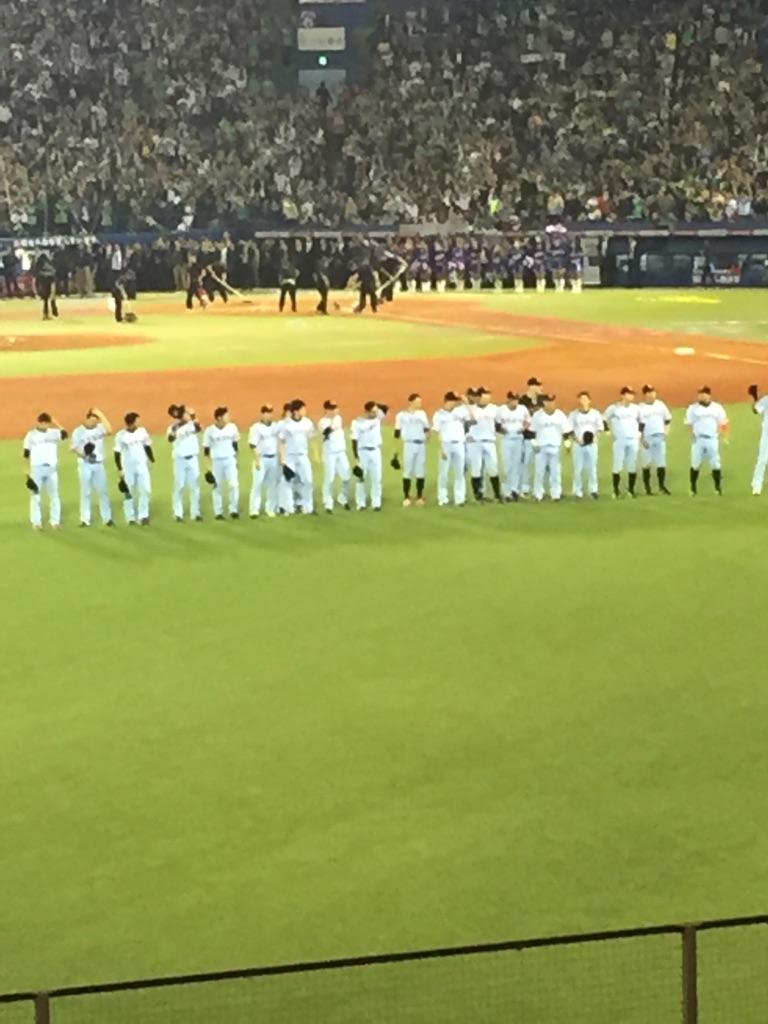 CSヤクルト(東京)●2-3 耐えた投手陣に感謝