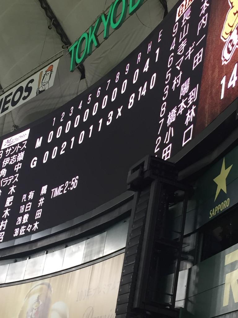 ロッテ(東京)◯8-0 今週3度目の零封